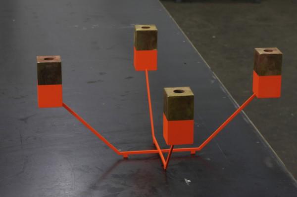 Cubes and Colour 4-4-X, Kerzenleuchter, Messing, Pulverbeschichtung